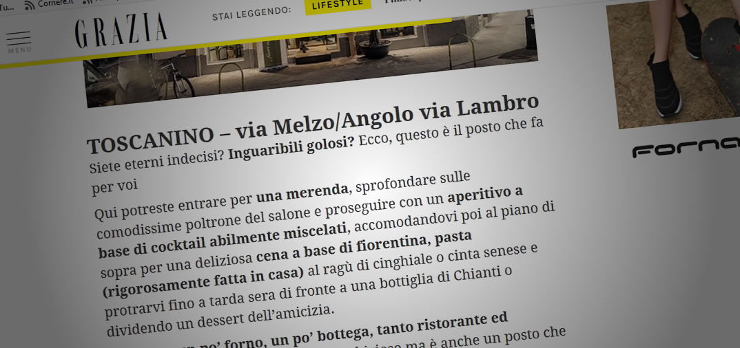 Toscanino Milano su Grazia