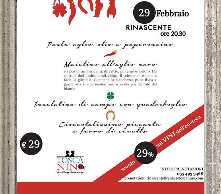 Cena Antijella – 29 febbraio in Rinascente Firenze