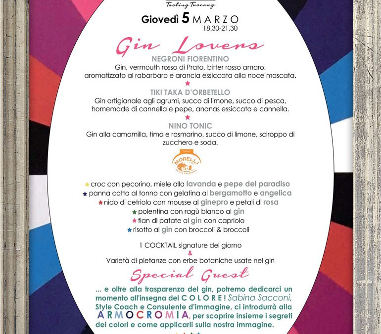 Gin Lovers – giovedì 5 marzo 2020